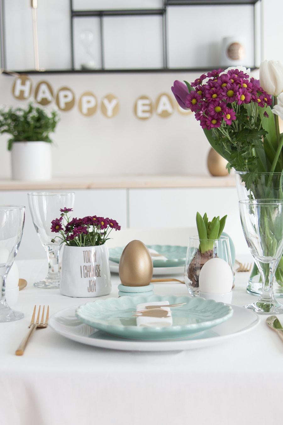 Ostern gedeckter Tisch Inspiration