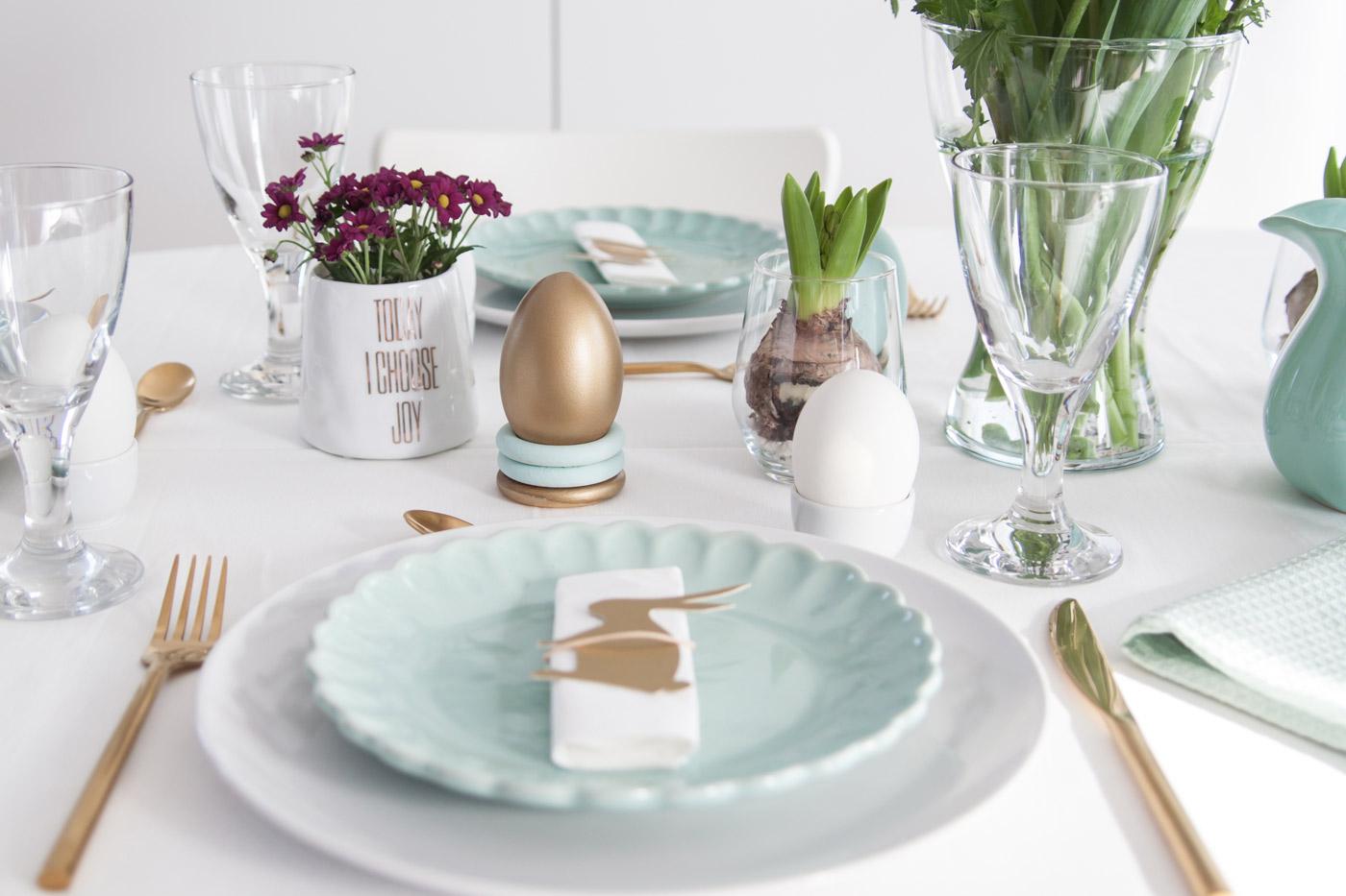 Tisch decken Ostern Freebie DIY