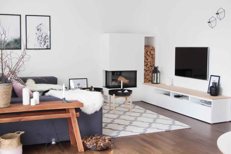 Wohnzimmer Kamin Skandinavische Einrichtung