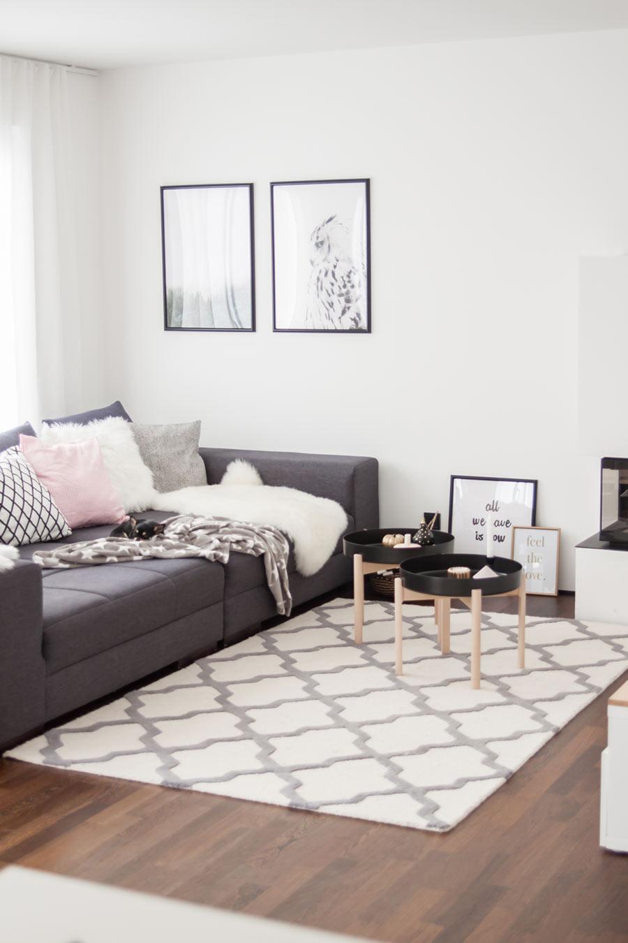 XXL Couch Wohnzimmer anthrazit