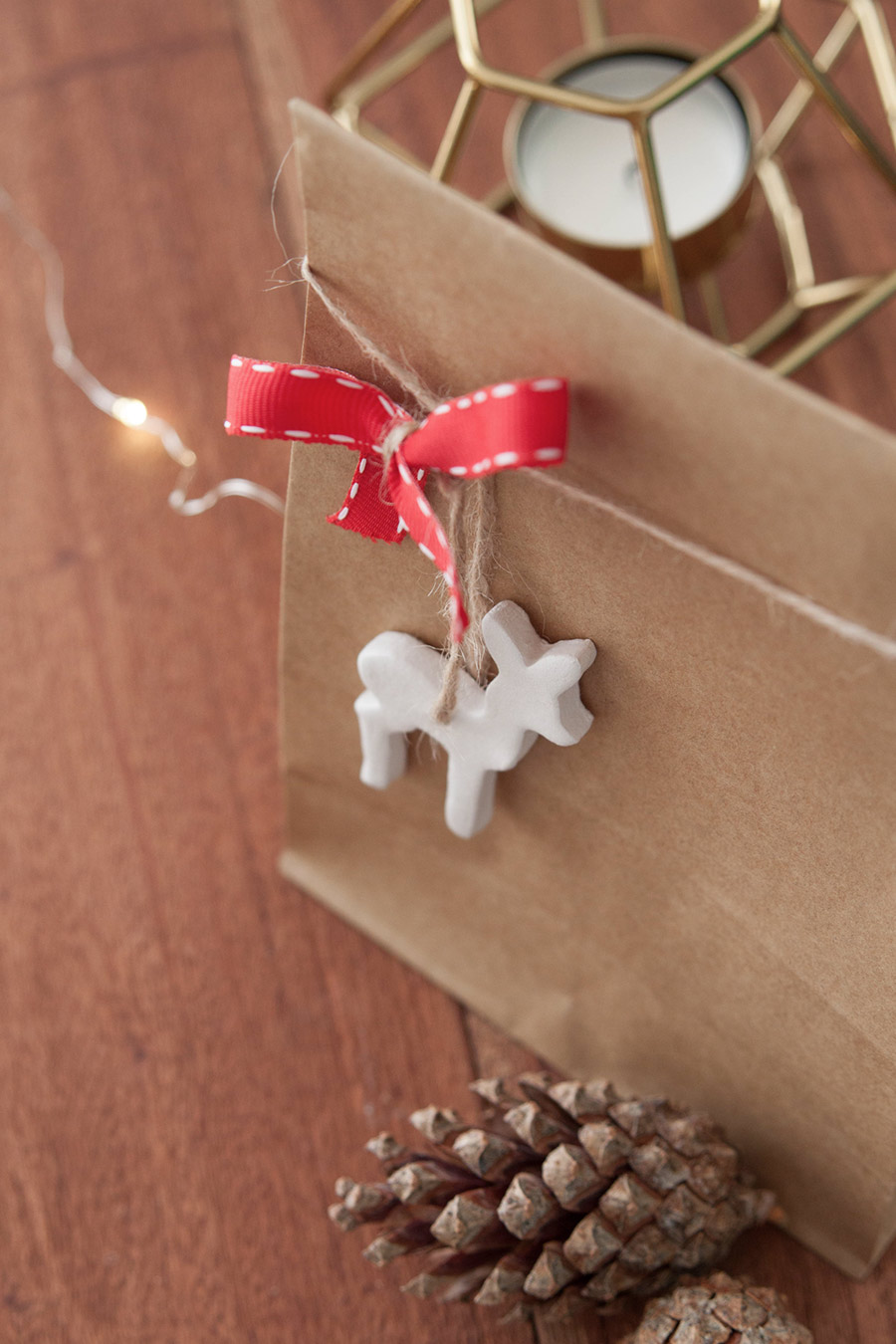 Geschenk verpacken Anhänger DIY