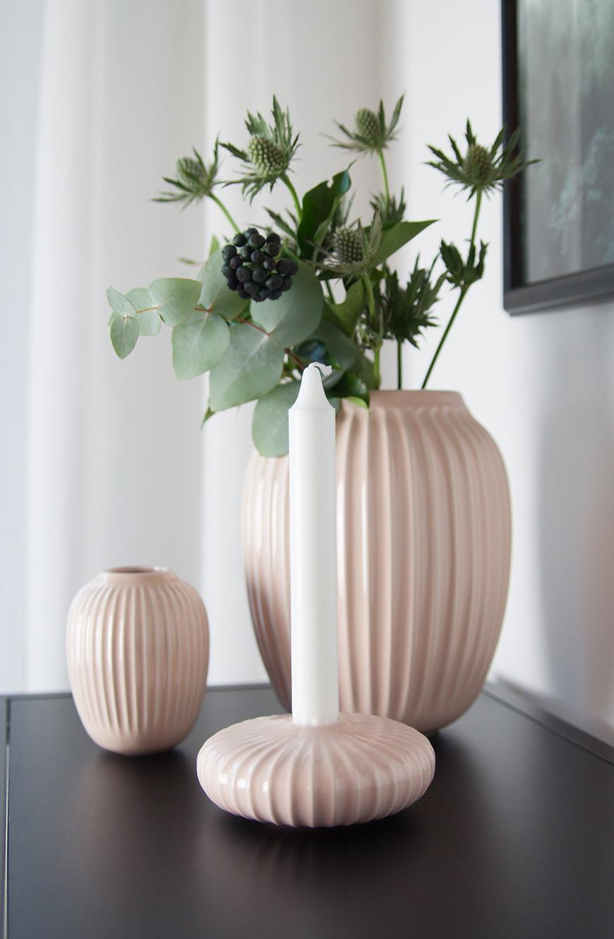 Kähler Vase Hammershoi rosa