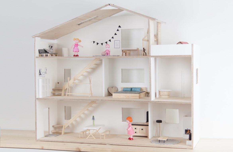 DIY Puppenhaus Skandi selberbauen