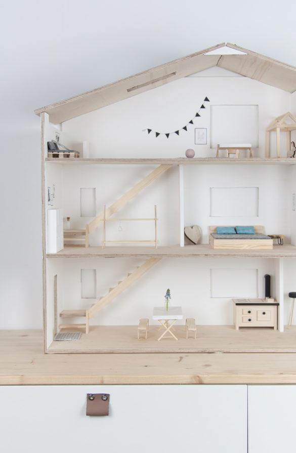 DIY Puppenhaus skandinavisch