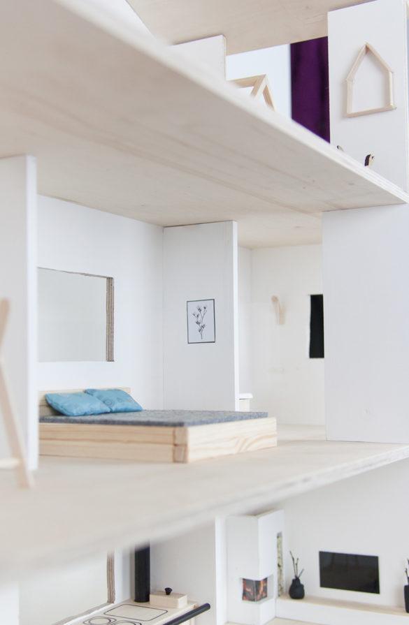 DIY Puppenhausmöbel aus Holz