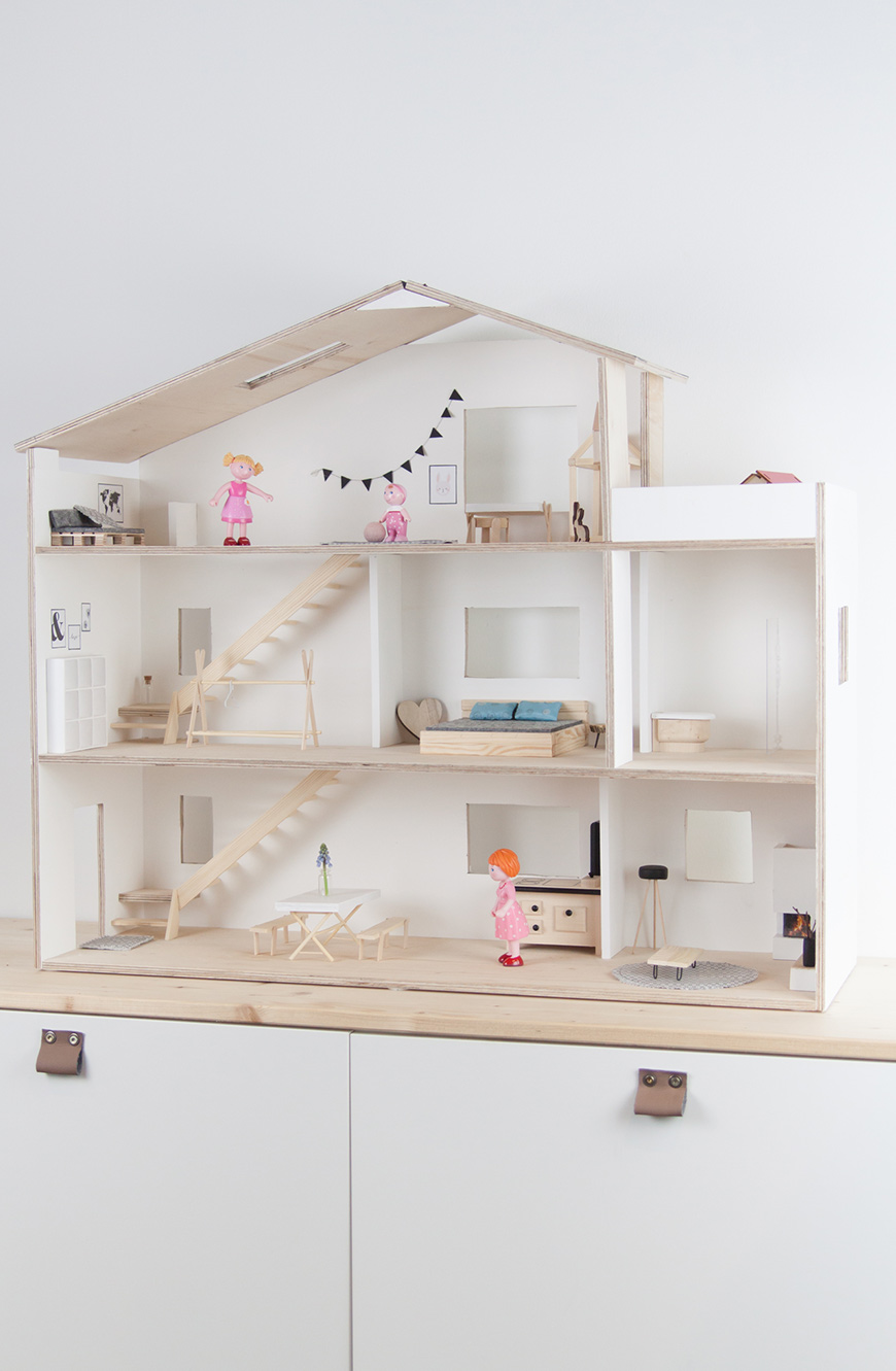Puppenhaus Skandilook selberbauen