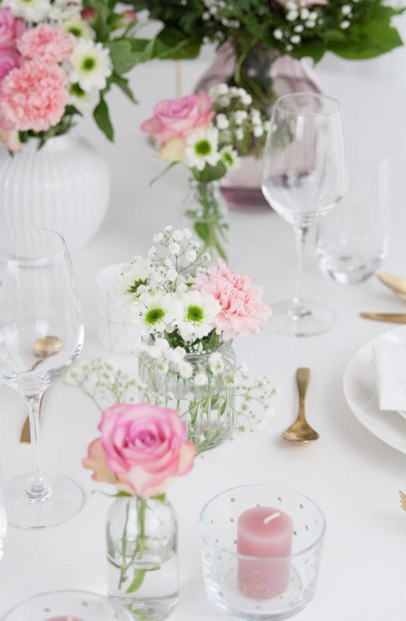 Tischdekoration romantisch Hochzeit Valentinstag