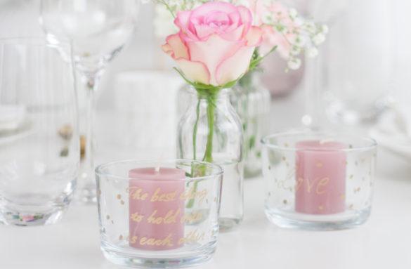 Valentinstag DIY Kerzenhalter