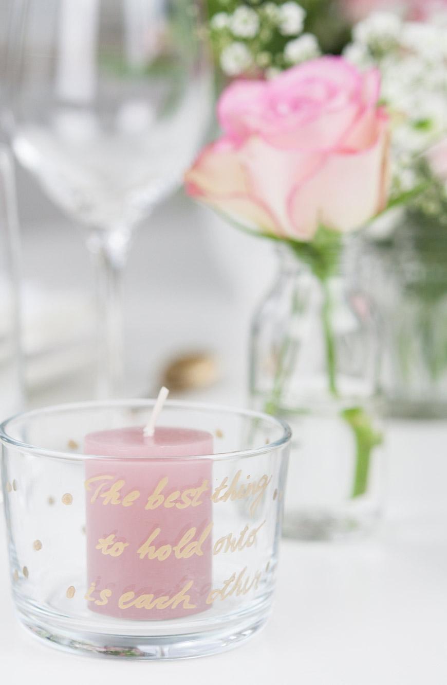 Valentinstag Kerzenhalter DIY