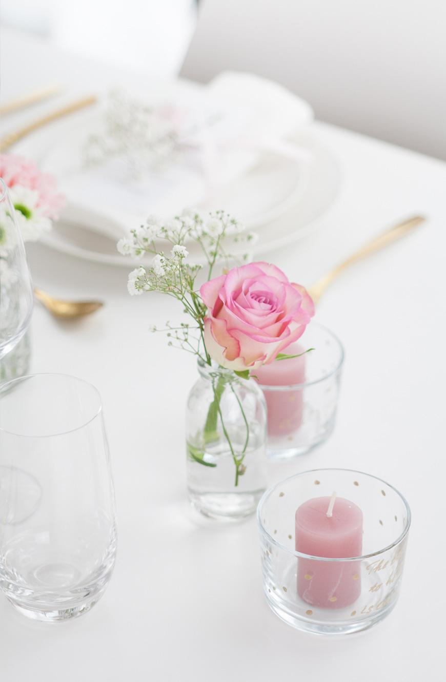 Valentinstag Hochzeit romantische Tischdeko
