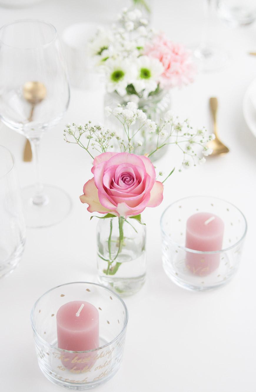 Valentinstag DIY Tischdekoration