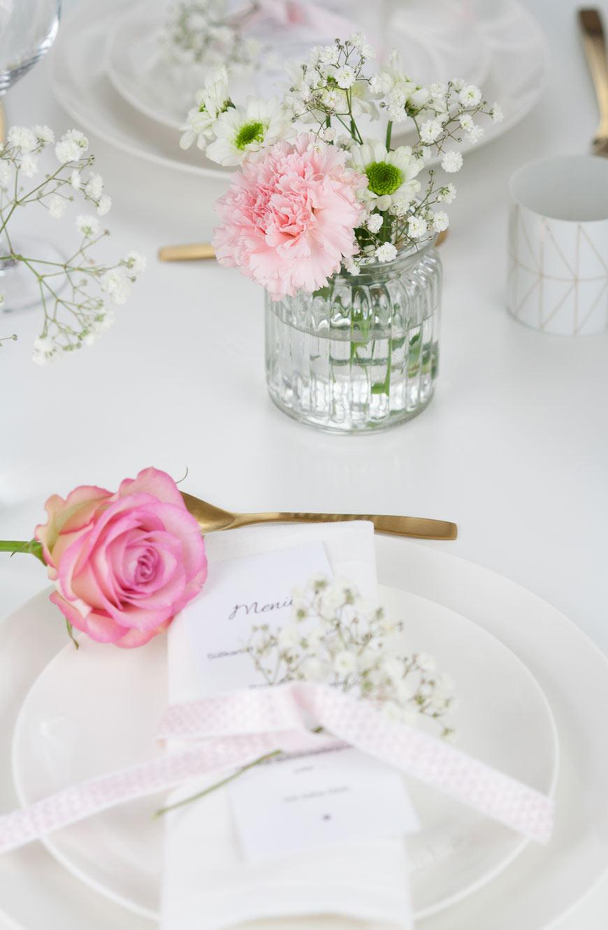 Valentinstag Tischdekoration