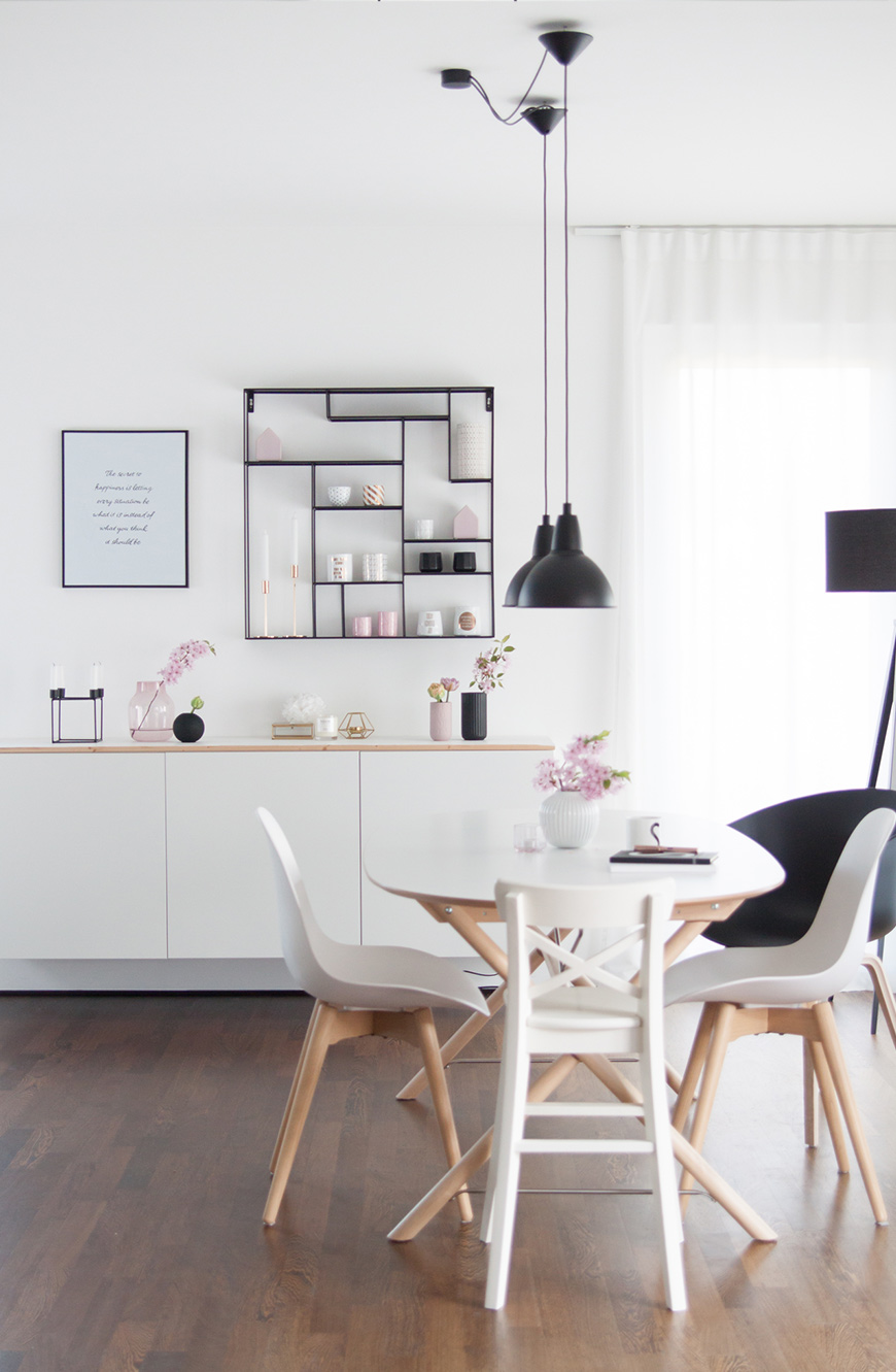 Esstisch und Sideboard von Ikea, Esszimmer einrichten