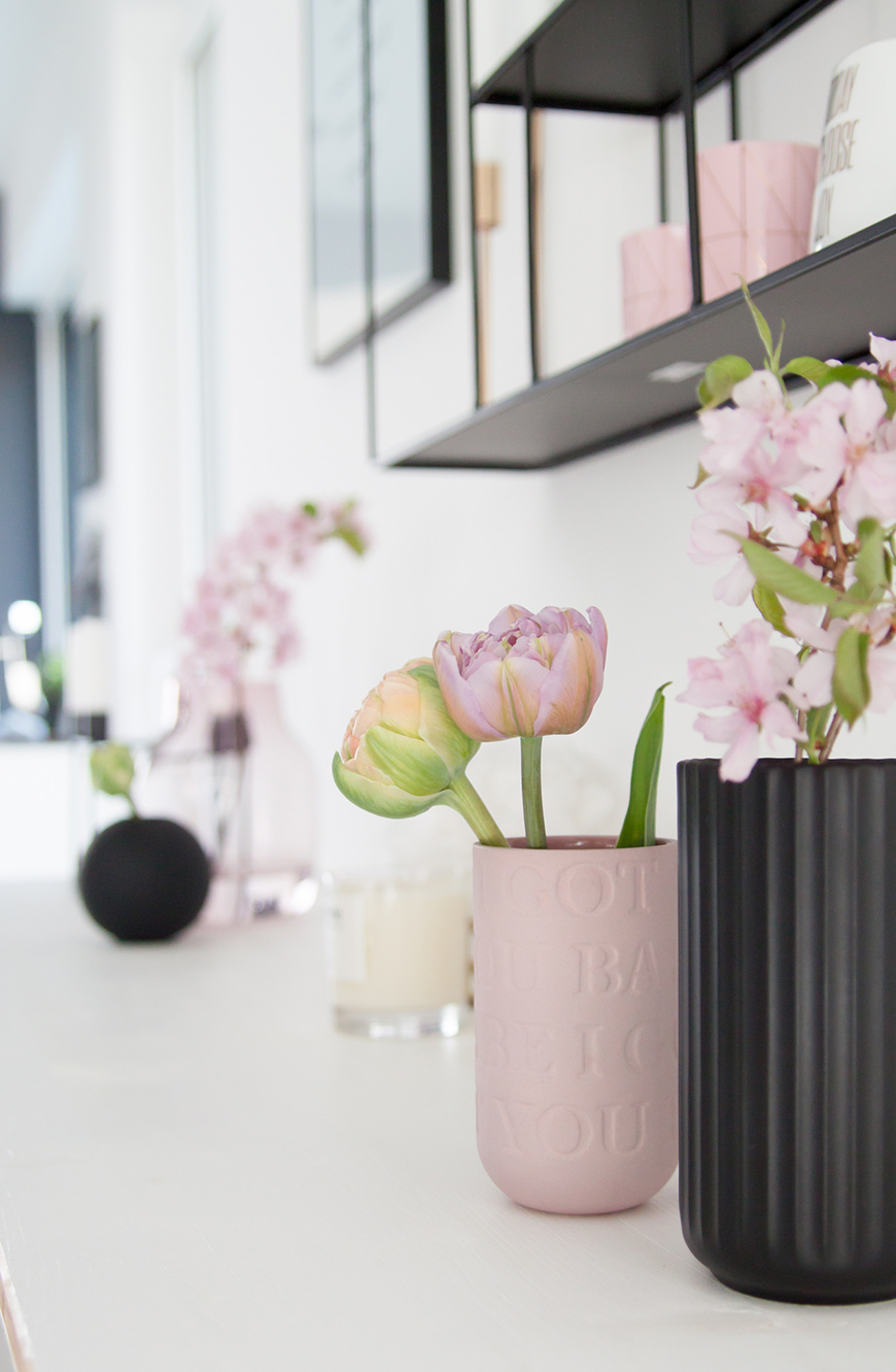 Kähler Vase Lovesong rosa