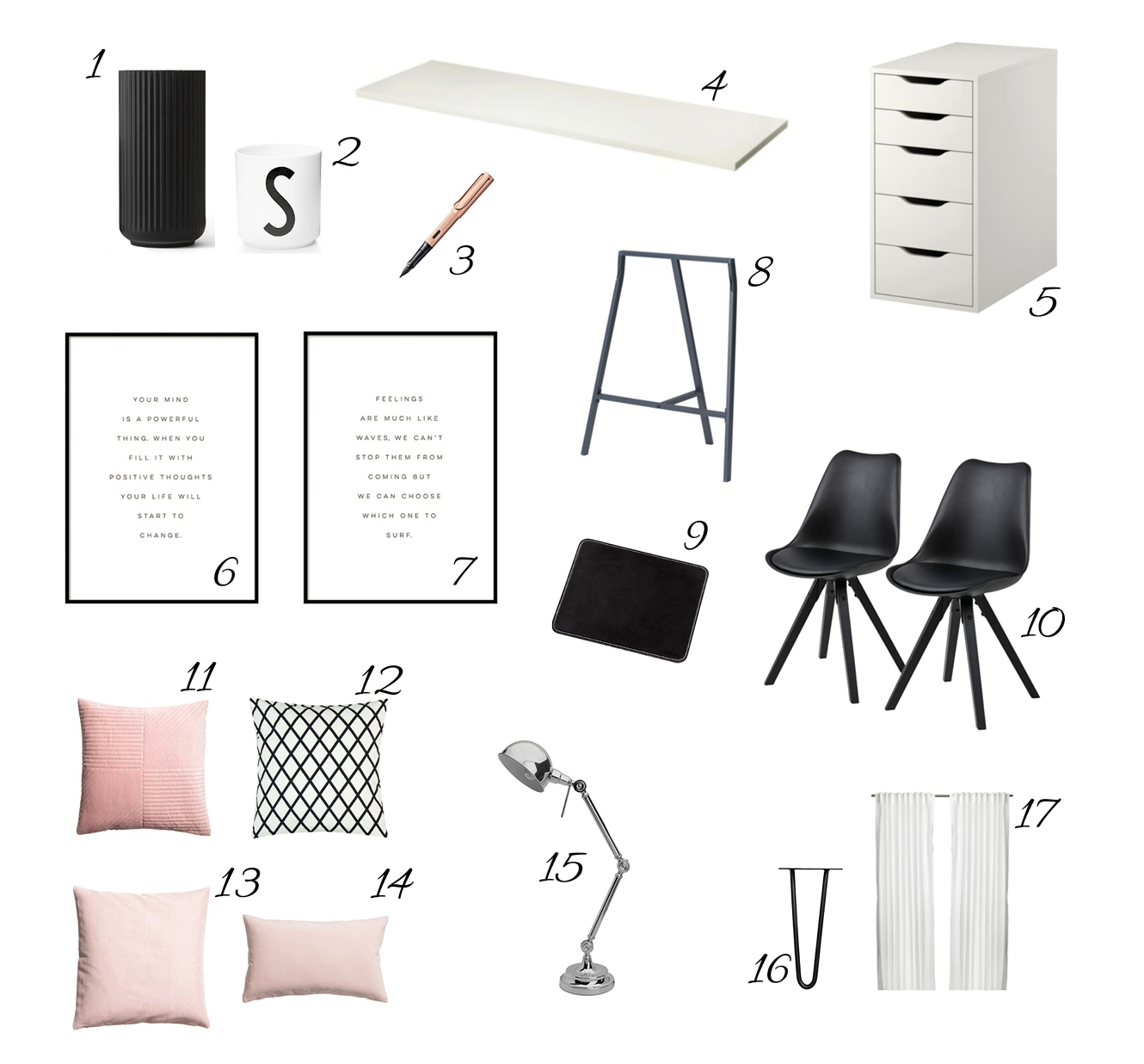 Skandi Homeoffice Stylebook, Shop the Look