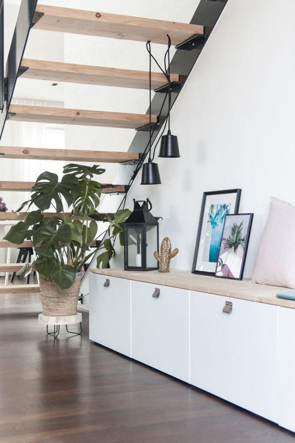 Ikea Besta DIY Sitzbank unter der Treppe