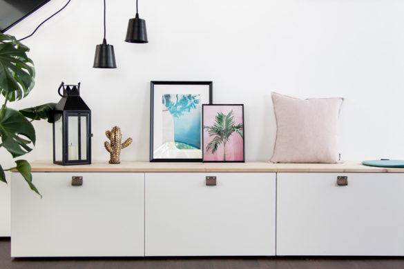 Ikea Besta Sitzbank DIY Sommerdeko