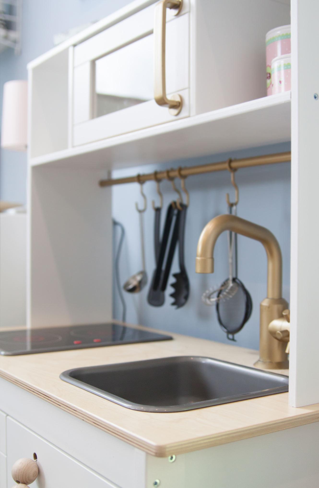 Ikea Kinderküche Hack gold