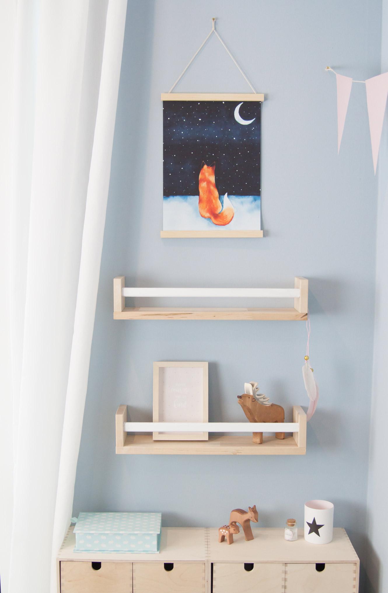 Kinderzimmer Bilderleiste DIY