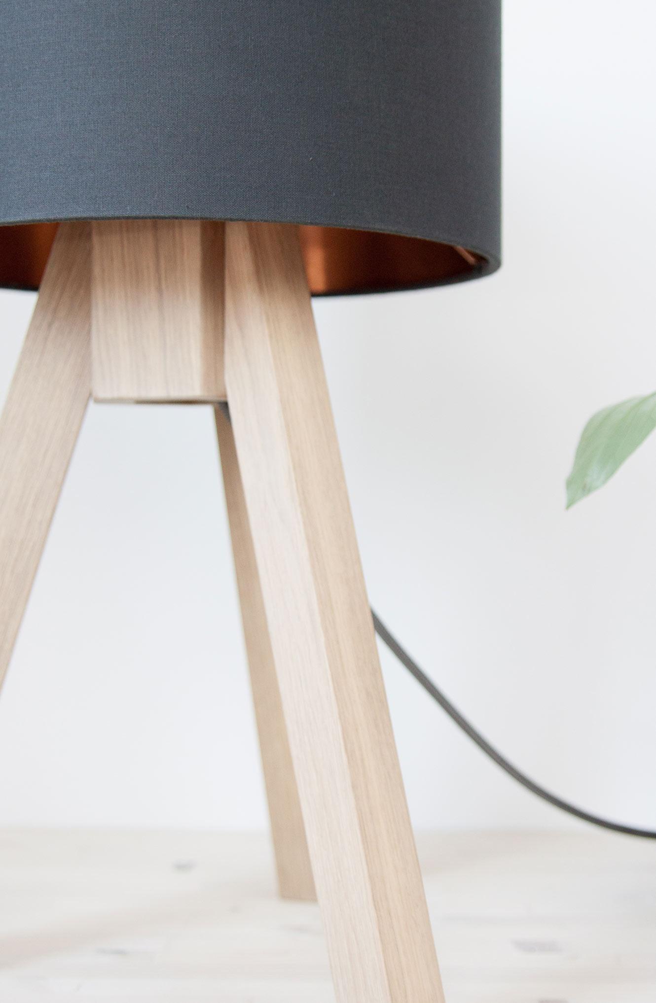 Tischleuchte Eichenholz Suutje