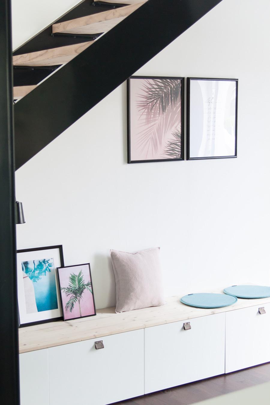 Sitzbank unter der Treppe Ikea Besta DIY