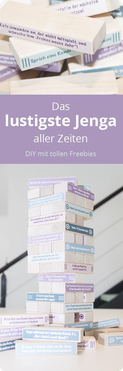 DIY Geschenkidee Jenga Freebie