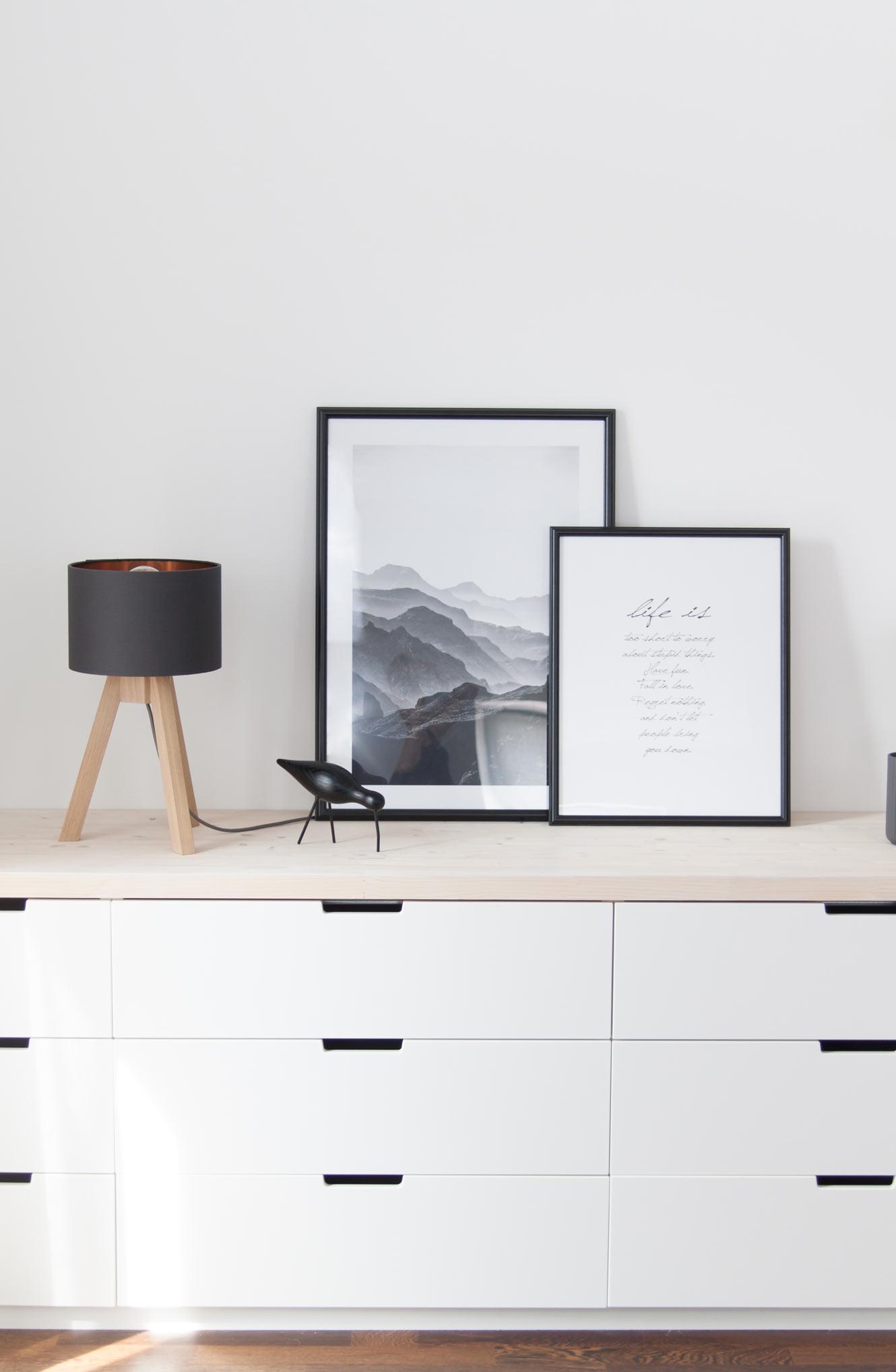Ikea Nordli Kommode mit Holzplatte DIY