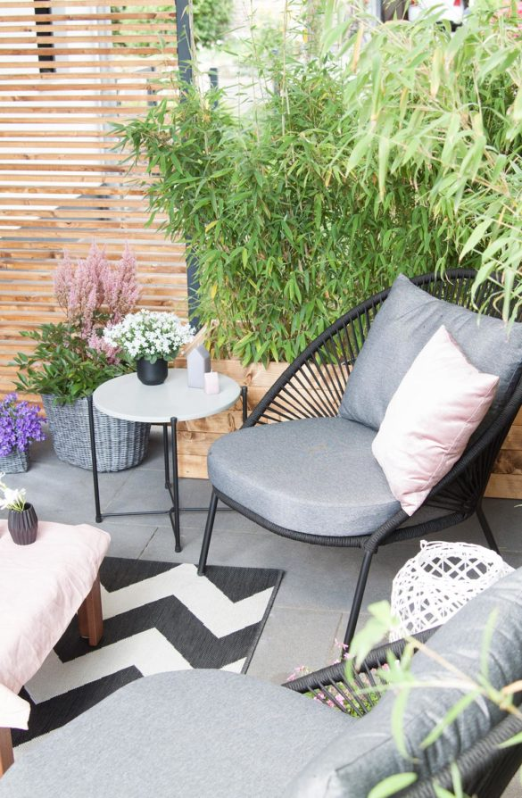 Loungesessel Terrasse schwarz