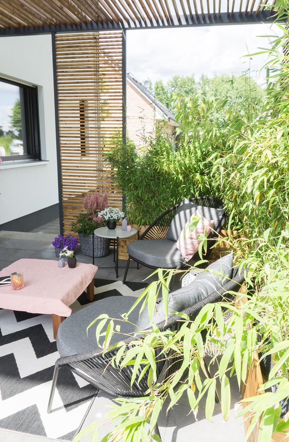 Terrasse Sichtschutz selberbauen DIY