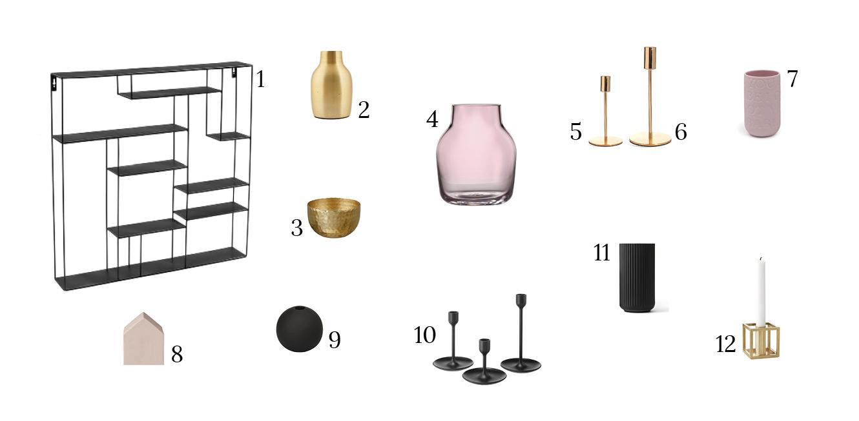 Dekorieren mit schwarz, gold und rosa