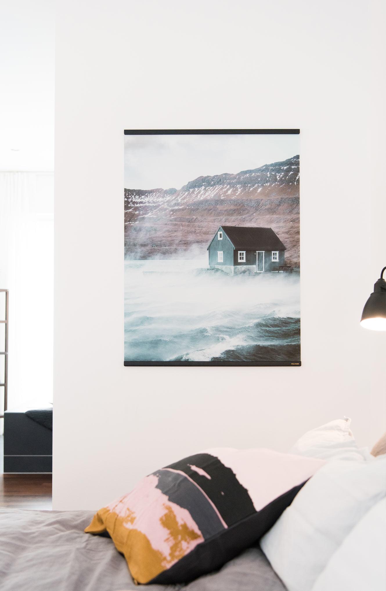 Schlafzimmer Leinwand Walltones
