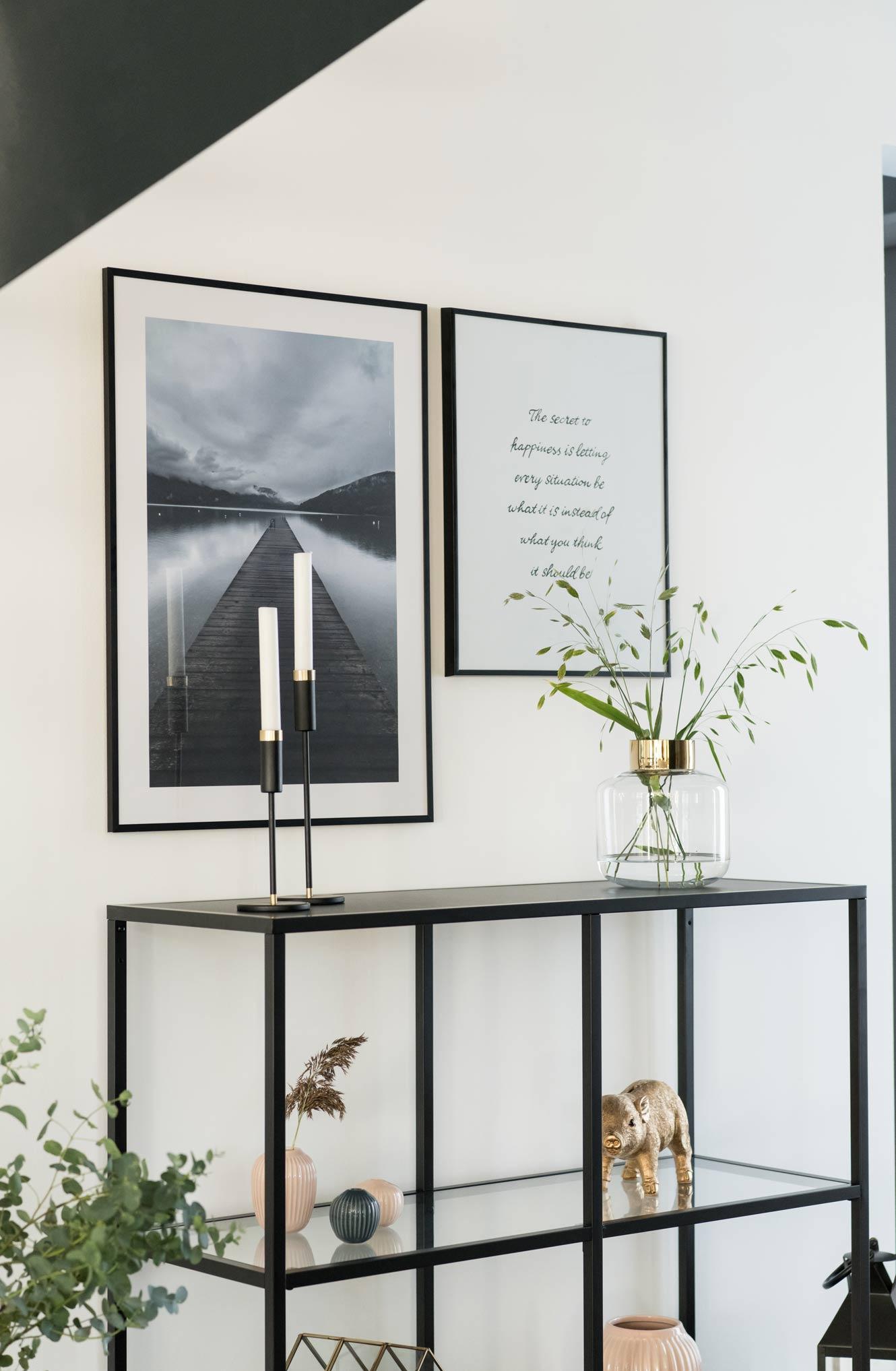 DIY Bild mit Spruch, Ikea Regal Vittsjö