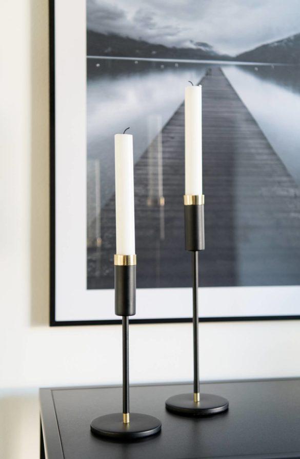 Kerzenhalter HM Home schwarz metall