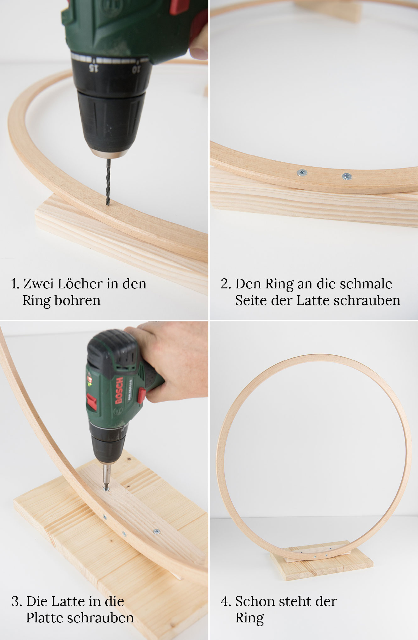 DIY Lichterkette Ring draußen