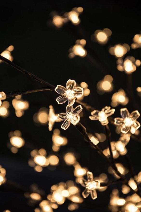 Kirschblüte Lichterbaum Dekoration