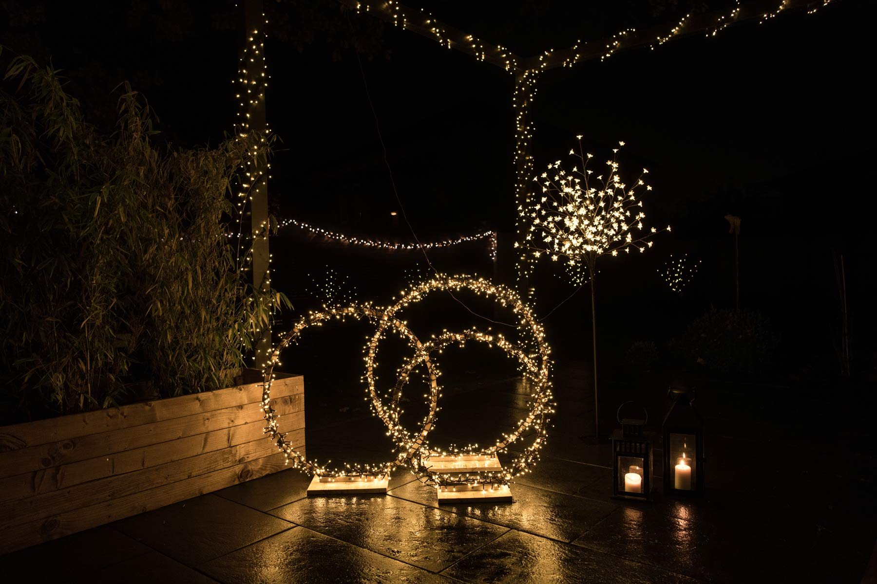 Lichterketten DIY Weihnachten Outdoor