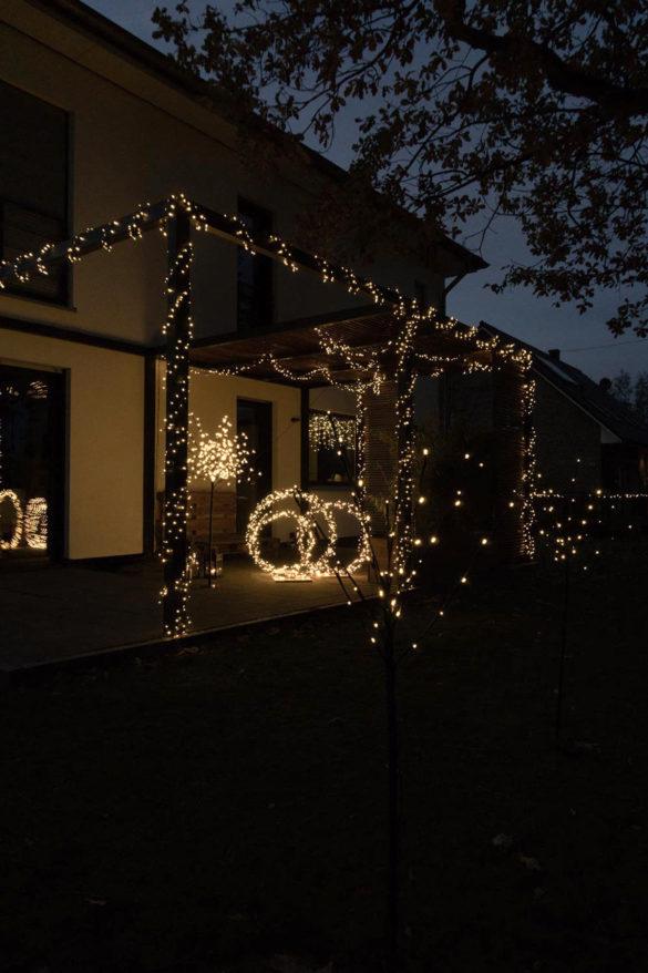 Lichterketten Terrasse DIY