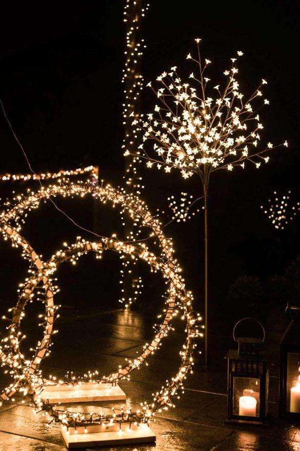 Terrasse weihnachtliche Beleuchtung