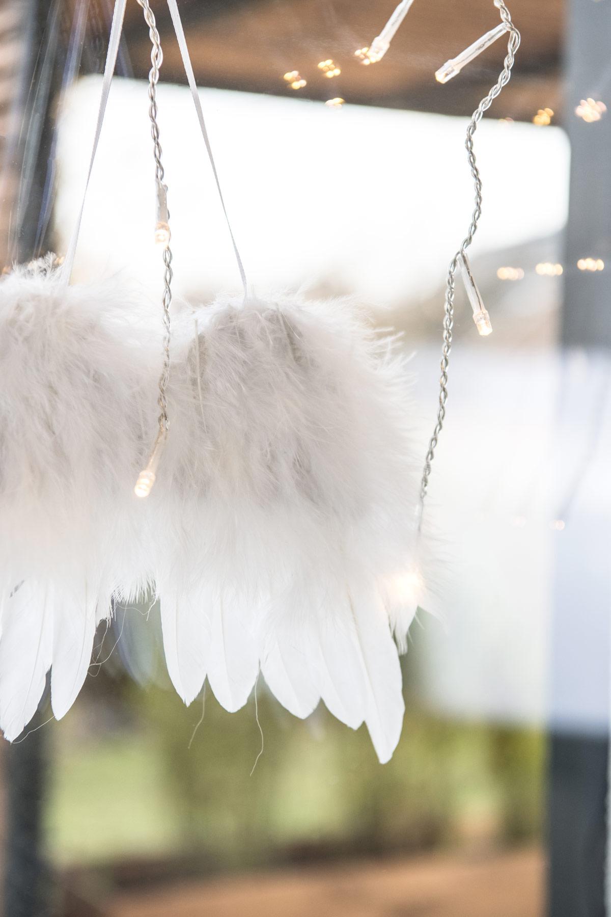 Engel am Fenster Skandi Weihnachtsdeko