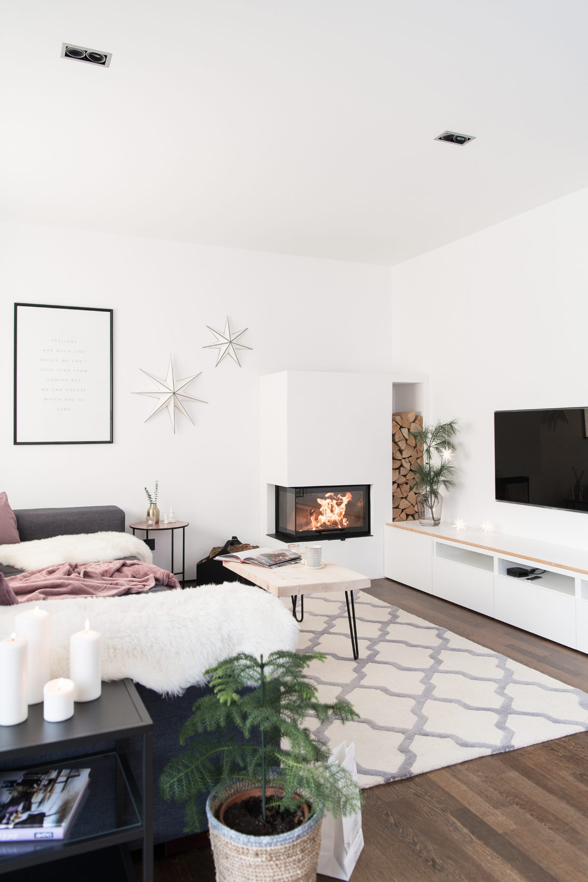 Skandi Weihnachten Deko Wohnzimmer