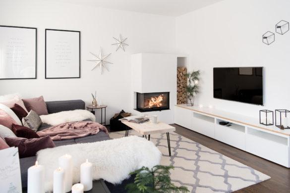 Skandi Weihnachtsdeko Wohnzimmer
