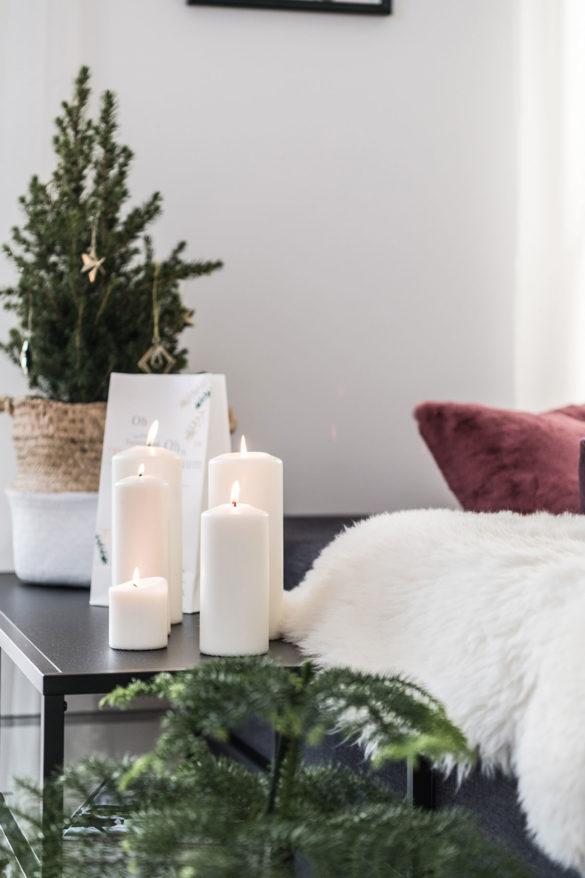 Stumpenkerzen Weihnachtsdeko Skandi