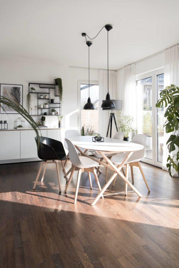 Essbereich einrichten mit Zimmerpflanzen