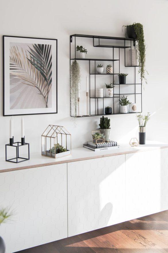 Sideboard dekorieren mit Zimmerpflanzen