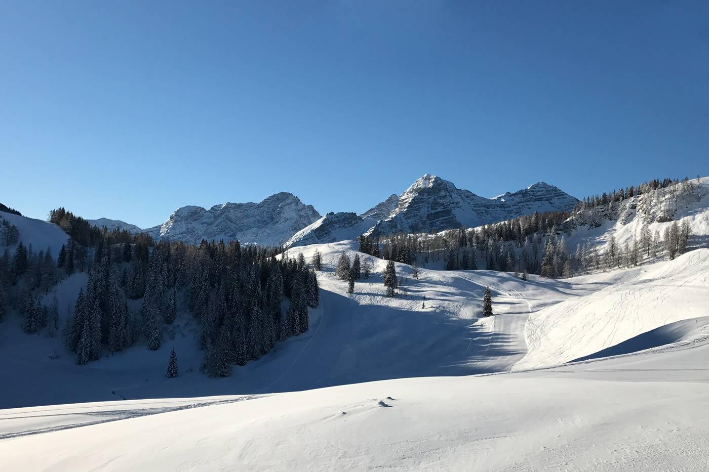 Skifahren bei Salzburg