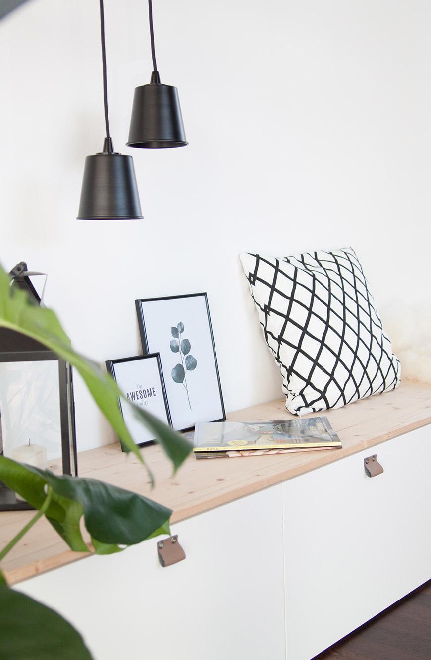Ikea DIY Besta mit Holzplatte