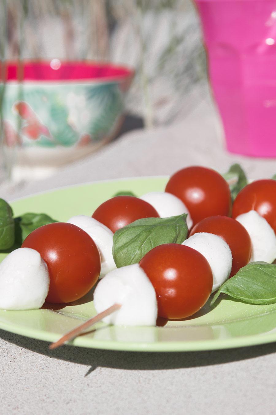 Tomate Mozarella am Spieß
