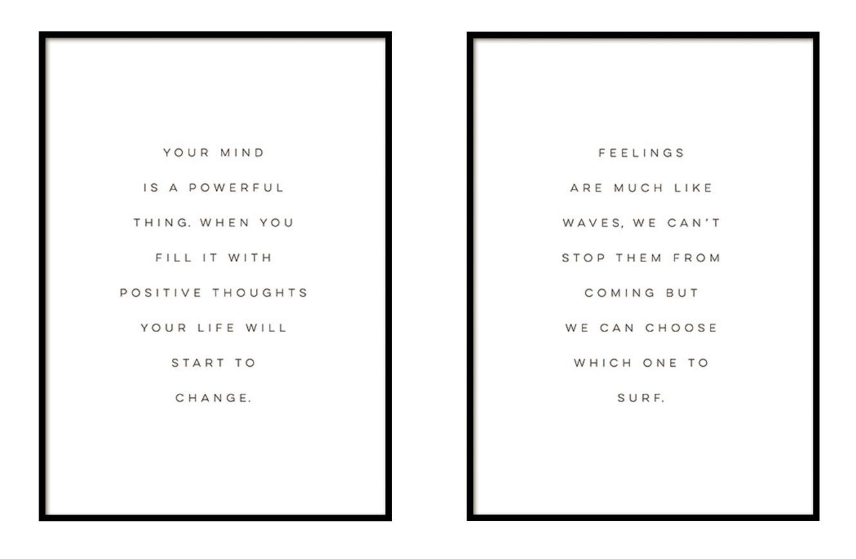 Typografiebilder von Desenio