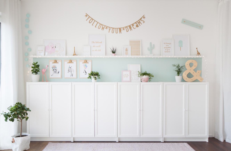 Kinderzimmer Stauraum mit Ikea Billy