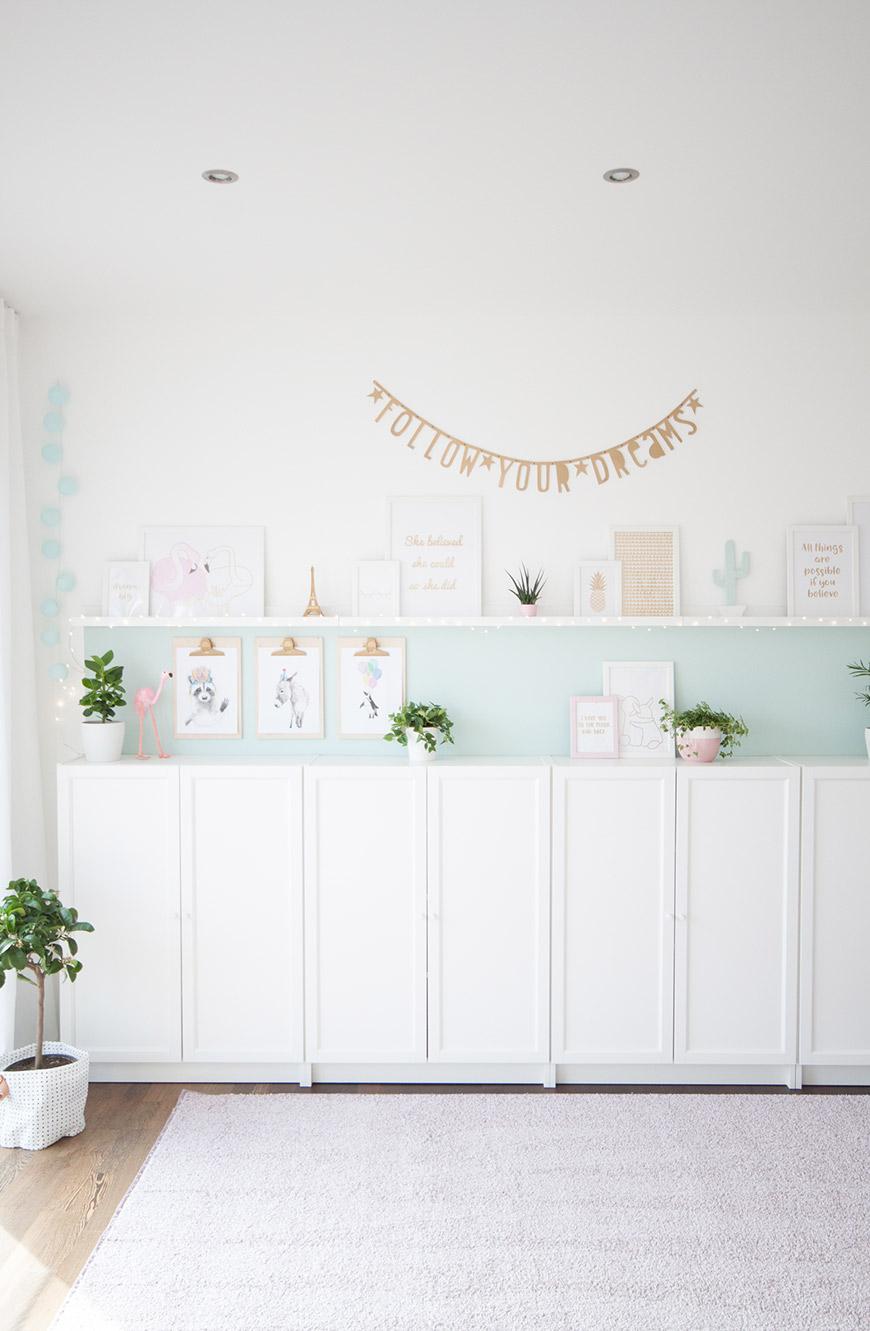 Kinderzimmer Stauraum mit Ikea Billy Schränken
